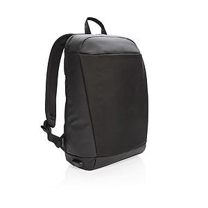 RFID USB nedobytný batoh na notebook Madrid, černá