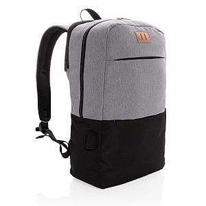 """Moderní USB & RFID batoh na 15,6"""" notebook, černá"""