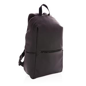 """Batoh na 15,6"""" notebook z hladkého PU, černá"""