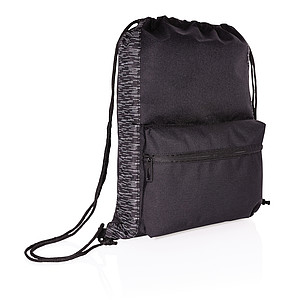 Reflexní šňůrkový batoh z RPET AWARE™, černá