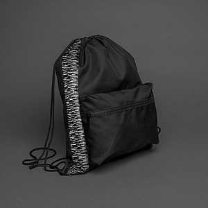 DUHU Reflexní šňůrkový batoh z RPET AWARE™, černá