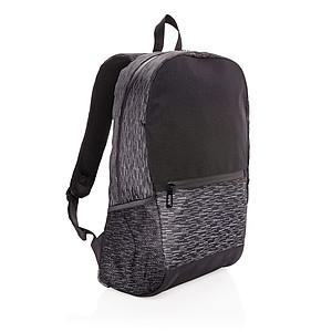 Reflexní batoh na notebook z RPET AWARE™, černá
