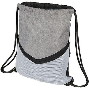 Dvoubarevný stahovací batoh s šedou vrchní částí, bílá