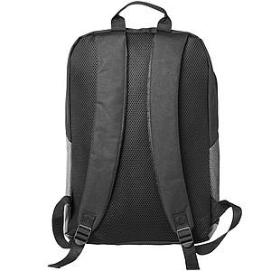 "Dvoubarevný batoh na počítač 15"" s černým základem, šedá"