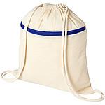 Pevný stahovací batoh, bílá