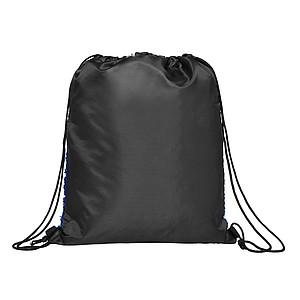 PETRUSIN Stahovací batoh s flitry, černá/královská modrá