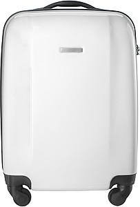 BINKY Pevný kufr na 4 kolečkách a s integrovaným zámkem, bílý