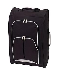 Palubní kufr s kapsami na zip, černý