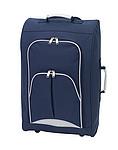 Palubní kufr s kapsami na zip, modrý