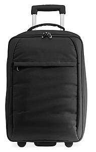 ZANOVI Skládací polyesterový kufr na kolečkách, černá