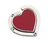 Háček na stůl k zavěšení kabelky, tvar srdce