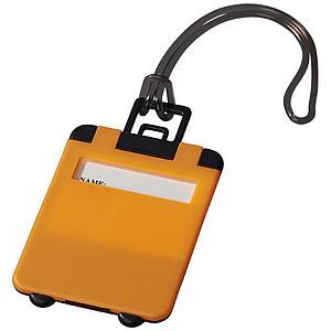 Zavazadlová visačka Taggy, neonově oranžová