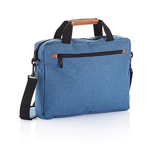 Polyesterová taška na laptop, modrá