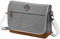 """NADJA Konferenční taška na laptop 14"""", šedá, hnědé doplňky"""
