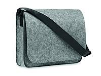 Plstěný RPET obal na notebook, šedý