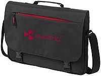"""Černá konferenční taška s červeným zipem, na laptop 15,6"""""""