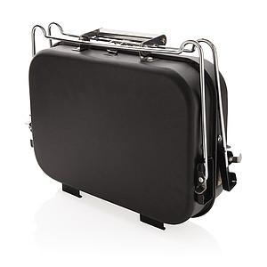 Přenosný gril v kufříku, černá