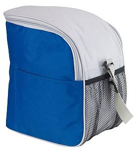 Malá chladící taška s boční kapsičkou, modrá