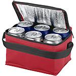Chladící taška na 6 plechovek, červená