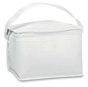 Chladící taška na 6 plechovek, 210 polyester, bílá