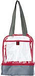 Transparentní taška s chladící přihrádkou, červený lem