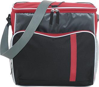 Chladící taška s popruhem na rameno, červená
