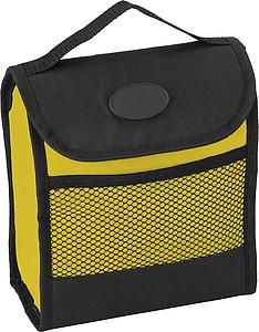 Skládací chladící taška se zapínáním na suchý zip, žlutá