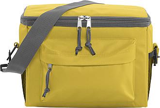Chladící taška s přední kapsou na zip, žlutá
