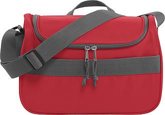 LUSAMBO Chladící taška s přední kapsou na suchý zip, červená