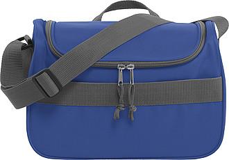 Chladící taška s přední kapsou na suchý zip, modrá