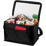 ARAVIS Chladící nákupní taška s přední kapsou na zip, bílá, černá