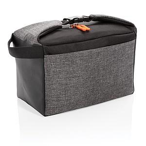Dvoutónová chladící taška, šedá/černá