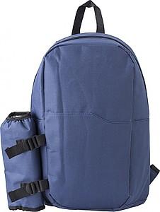 ROBIO Chladící batoh s boční kapsou na láhev, modrý