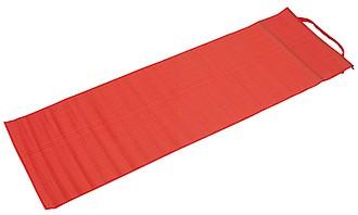 Plážová podložka s popruhem na nošení, červená
