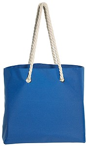 BEACH Plážová taška s kroucenými uchy, modrá