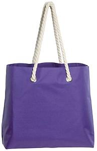 BEACH Plážová taška s kroucenými uchy, fialová