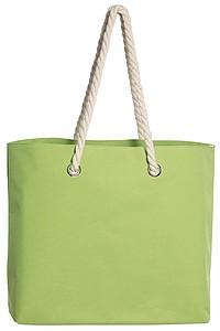 BEACH Plážová taška s kroucenými uchy, zelená