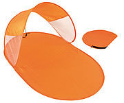 Skládací plážová podložka se stínítkem, oranžová