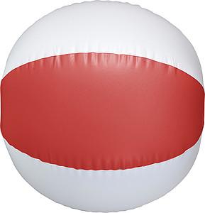 FARAMIR Nafukovací plážový PVC míč, bílo červený