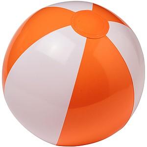 Nafukovací míč, průměr 25 cm, tmavě oranžová/Bílá