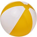 Neprůhledný plážový míč, průměr 40 cm, bílá/červená