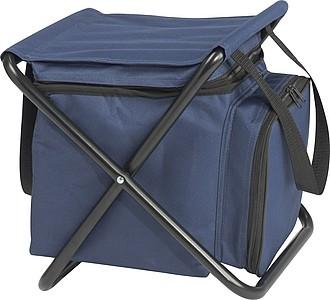 Pikniková chladící taška a židlička v jednom, modrá
