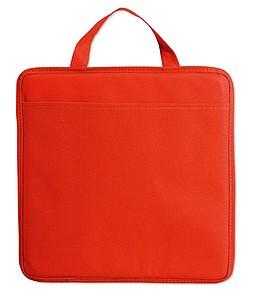 Podsedák z netkané textilie s kapsičkou, červená