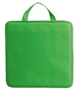 Podsedák z netkané textilie s kapsičkou, zelená