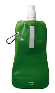GATES Rolovací láhev na vodu s karabinou, zelená