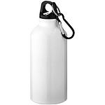 Hliníková láhev s karabinou, bílá