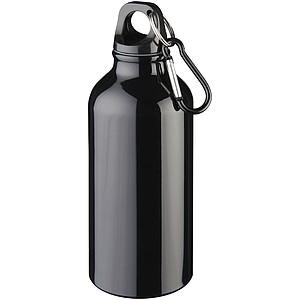 Nápojová láhev s karabinou , černá