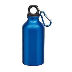 Hliníková láhev na pití, 0,4 l, modrá