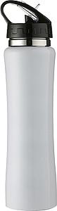 ISMAEL Nerezová láhev na pití s brčkem, 0,5 l, bílá