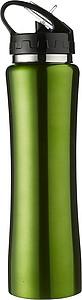 ISMAEL Nerezová láhev na pití s brčkem, 0,5 l, zelená